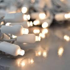 White Cord Lights Warm White Led Light Strand W White Cord Twinkling 50 Lights