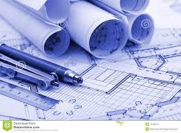 architecture plan tools stock photography image  rolls of architecture blueprint work tools royalty stock photo
