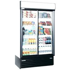 sliding door refrigerator commercial refrigerators glass