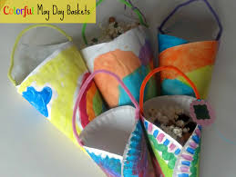 Kids Crafts Spring Craft Colorful May Day Baskets From Mom It Forward Kids