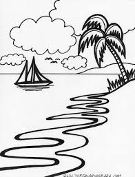 Small Picture 10 Pics Of Tropical Sunset Coloring Pages Tropical Beach