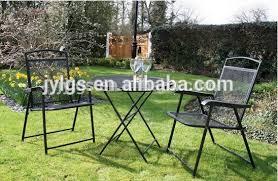 3 piece folding metal mesh patio