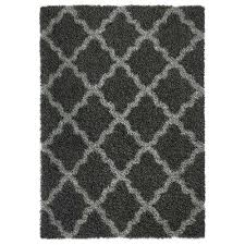 bella collection charcoal grey 3 ft x 5 ft area rug