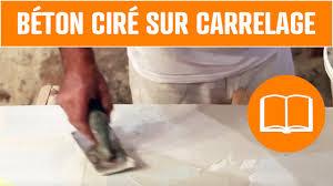 Béton Ciré Sur Carrelage Sol Plan De Travail Salle De Bain Youtube