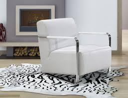 modern white lounge chair. Bison Modern White Leather Lounge Chair