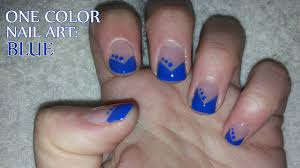 One Color Nail Art: Blue - YouTube