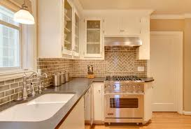 cool brick backsplash in kitchen design look retro