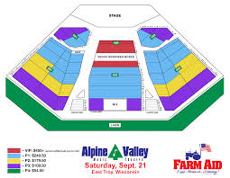 Alpine Valley Detailed Seating Chart With Seat Numbers Farm Aid 2019 Tickets On Sale Beginning Farmers