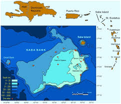 Chart Of Caribbean Islands Bathymetric Chart Of Saba Bank In Relation To Caribbean