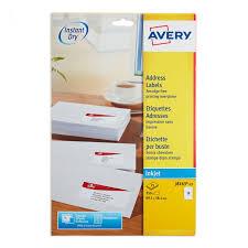 Avery Address Lables Avery Inkjet Address Labels J8163 25 Pack Of 25 Royal Mail