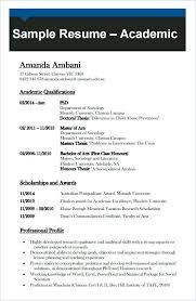 Sample Of Australian Resume Inspiration Academic Template Word Cv Australia Examples Lccorpco