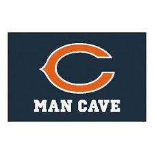 fanmats nfl chicago bears blue man cave 2 ft x 3 ft area rug