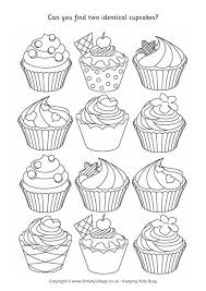 Jpg click the download button to view the full image of cupcake coloring pages download, and download it for your computer. Find Two Identical Cupcakes Puzzle Cupcake Coloring Pages Coloring Pages Cute Coloring Pages