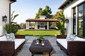 spanish style patio furniture. spanish style outdoor tiled area with white accents patio furniture i