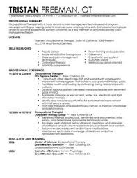use this professional occupational therapist resume sample to create your own sample resume occupational therapist
