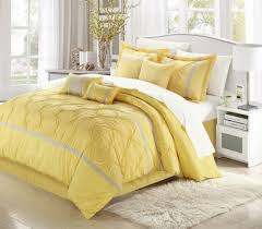 bedroom comfortable white and yellow bedding set with white area rug blue and yellow