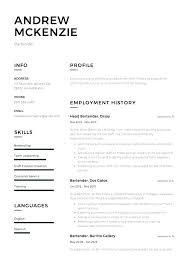Resume For Bartending Bartender Resume Sample Bartender Resume Job