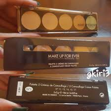 makeup forever 5 camouflage cream palette color correct concealer in no 1 never
