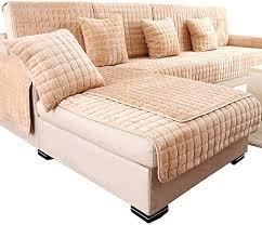 Sofa <b>slipcover</b> plush <b>microsuede couch</b> towel <b>cover</b> mats lattice anti ...