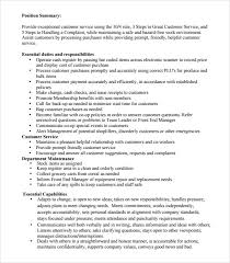 10 Cashier Resume Templates Free Samples Examples Format