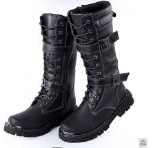 Autumn and winter style Hot <b>Korean</b> fashion <b>men's</b> pu leather high ...