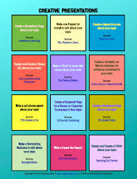 creative presentation ideas the comprehensible classroom creative project ideas
