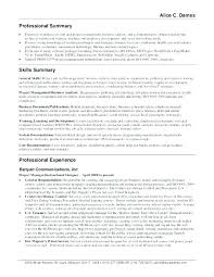 Example Of Resume Summary Beauteous Sample Resume Summaries Free Professional Resume Templates