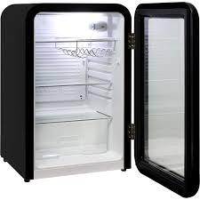 schmick black retro glass door bar fridge 3