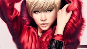 Tapety Model Dlouhé Vlasy červené černé Vlasy Móda Růžový