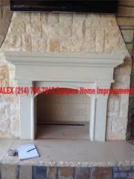 Austin Stone Fireplace Surround Living Room Craftsman With Built Austin Stone Fireplace