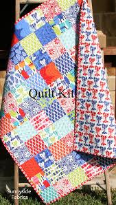 LAST TWO Coastal Quilt Kit, Beach House Kate Nelligan Moda Fabrics ... & Coastal Quilt Kit, Beach House Kate Nelligan Moda Fabrics, Lobster Clams  Fish, Ocean Adamdwight.com