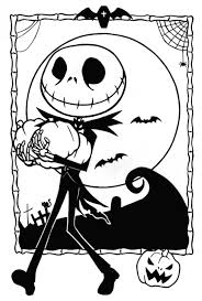 Free Printable Nightmare Before Christmas Coloring Pages Art