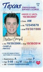 Driver Restrictions 21 Texas License Under