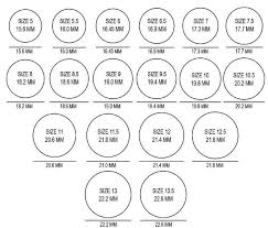 Printable Ring Size Chart