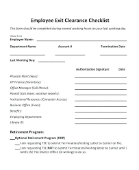 Employee Clearance Form Unique Blank Employee Exit Clearance Form Checklist Template Sample