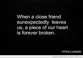 Death Of A Friend Quote