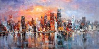 80x160cm new york oil painting by luigi paulini by luigipaulini