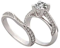 Wedding Band And Engagement Ring Set Bridal Sets Bridal Sets