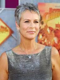 short gray fine haircut for older women