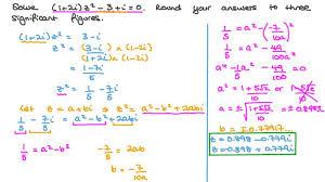 quadratic equations with complex
