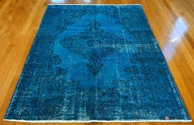 teal overdyed rug dye problem