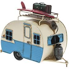 Lesser & Pavey Vintage Effect Tin Metal Classic Caravan Camper Trailer Model - Vintage Transport Collection