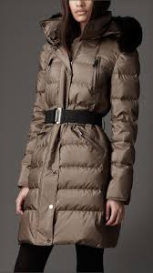 Lyst - Burberry Fur Trim Quilted Coat in Natural & Gallery. Women's Quilted Coats Adamdwight.com
