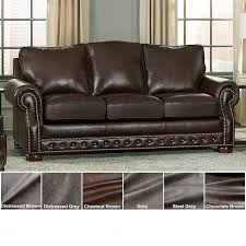 made in usa porto top grain leather sofa bed