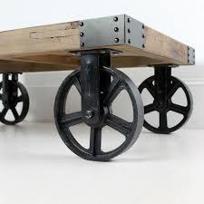 industrial furniture wheels. Industrial Coffee Table On Wheels | Pinterest Furniture
