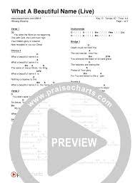 What A Beautiful Name Live Chord Chart Editable