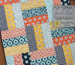 Lap Quilt Patterns Awesome Baby Quilt Pattern Lap Quilt Pattern Jumbo Rails Baby Quilt Etsy