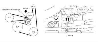 solved need a belt routing diagram for a 2005 niaasn fixya see below diagram need a belt routing diagram 4647778 gif