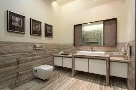 image of stylish modern bathroom wall decor