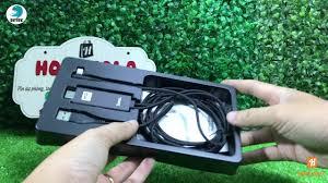 Cáp HDMI cho iPhone iPad cổng Lightning Hoco UA14 dài 2.0m (đen) - YouTube